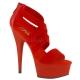 Sandales rouges à brides