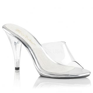 Mules Transparente sur Talon Haut CARESS-401