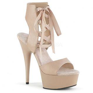 Chaussures femmes à lacet coloris nude
