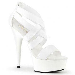 Nu-pied blanc à brides