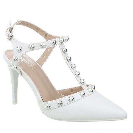 Chaussure mariage escarpin blanc
