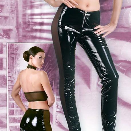 Pantalon vinyl taille basse
