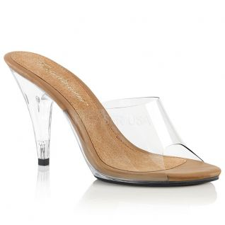 Mules originales coloris transparent et caramel