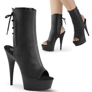 Bottines noires à lacet delight-1018