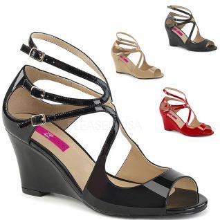 Sandales compensées grande pointure