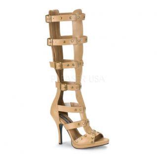 Sandales bottines caramel talon haut