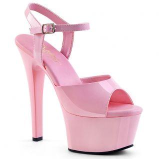 Sandale plateforme rose