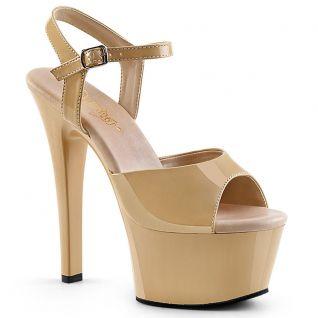 Sandale plateforme caramel