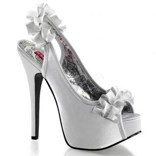 Sandales satin argent