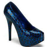 Escarpin léopard bleu