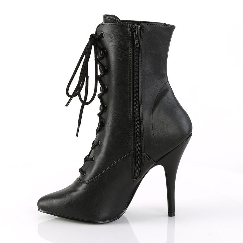 1020 Bottines Noir Classique Cosplay Soirée Chaussure PoleDance Pleaser Seduce