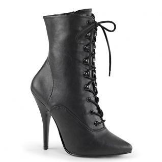 Bottines classiques noires à lacet seduce-1020