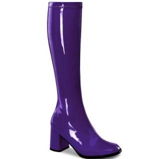 Bottes violettes style vintage gogo-300