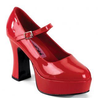 Chaussures escarpins gothiques rouges vernies plateforme maryjane-50