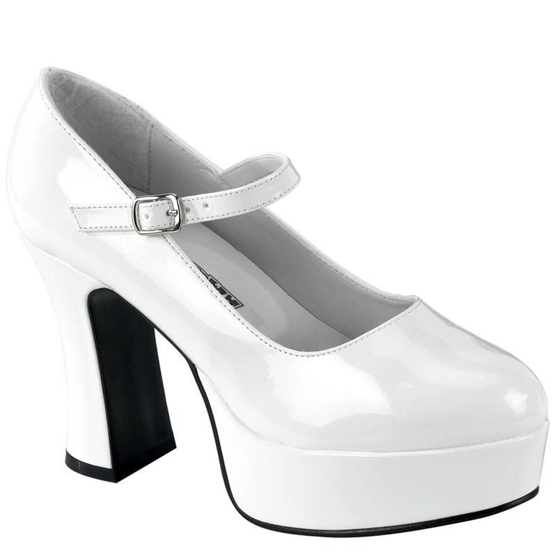 Escarpins Mary Jane blancs - Pointure : 44