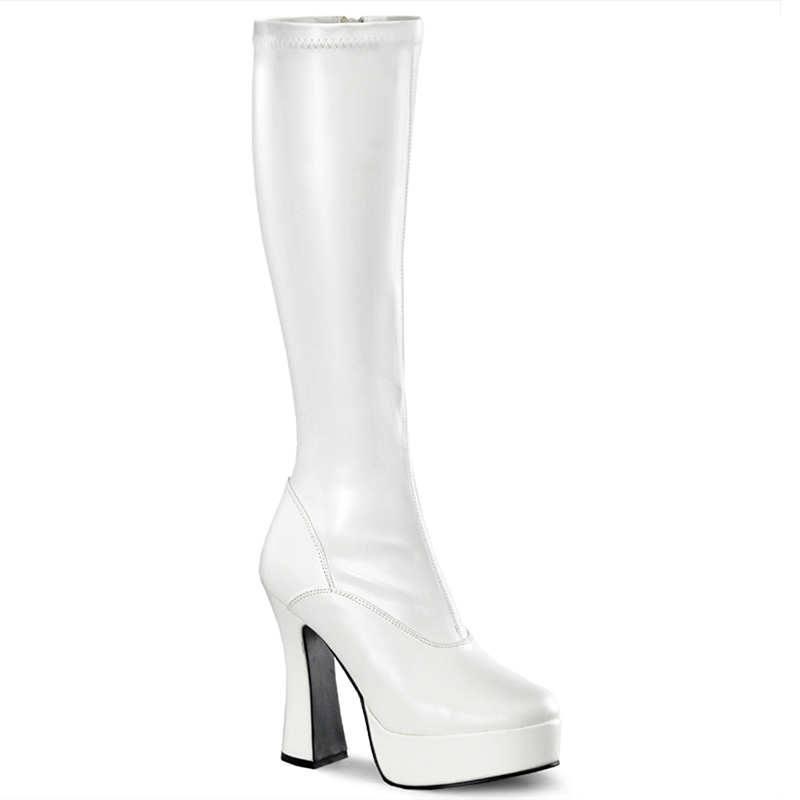 Bottes en stretch blanc - Pointure : 48