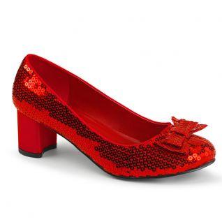 Escarpins paillettes rouges