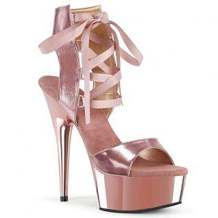 Chaussures femmes à lacet coloris rose