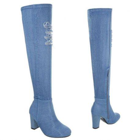 Bottes hautes en jeans