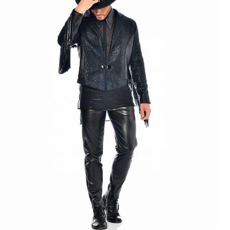 Pantalon homme faux cuir