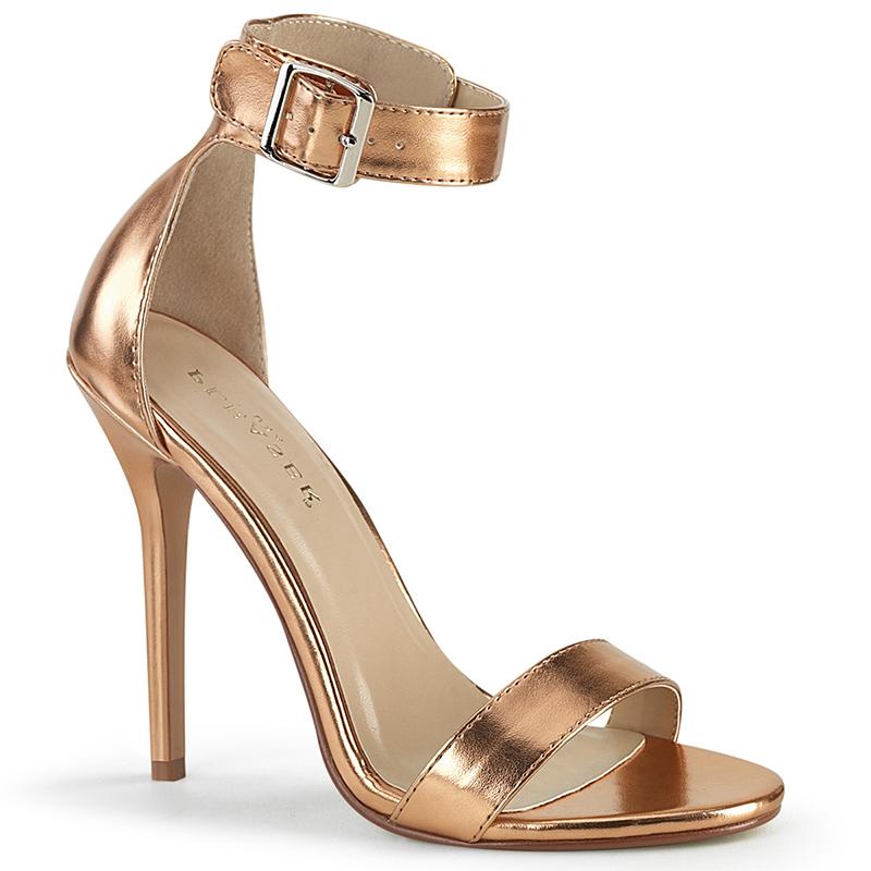 Sandales habillées chromées talon fin - Pointure : 38