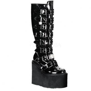 Chaussures bottes gothiques noires