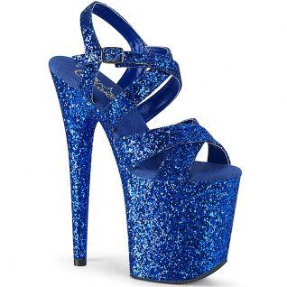 Sandales paillettes bleues