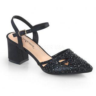 Chaussures petit talon noir sandales petite taille