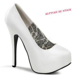 Escarpins burlesques blancs