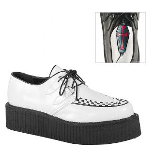 Chaussures blanches à lacet Unisex Creepers Vegan