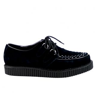 Chaussure rockabilly coloris noir creeper-602s Unisex Creepers : Leather