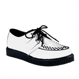 Chaussure à lacet en cuir blanc creeper-602 Unisex cuir