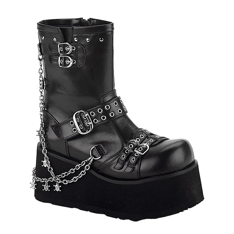 Chaussures gothiques bottines punk talon compensé clash-430 - Pointure : 39