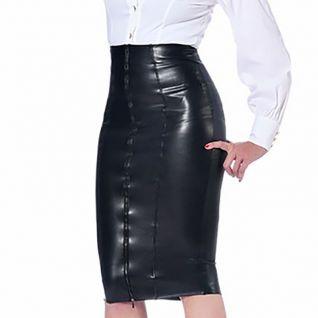 Jupe simili cuir noire