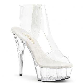 Sandales montantes et transparentes