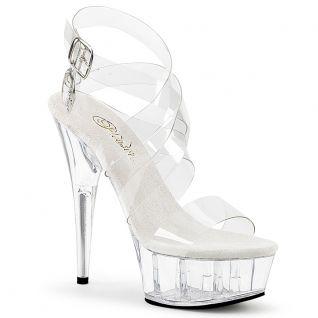 Sandales brides transparentes larges