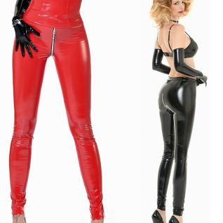 Leggings vinyl vernis rouge ou noir