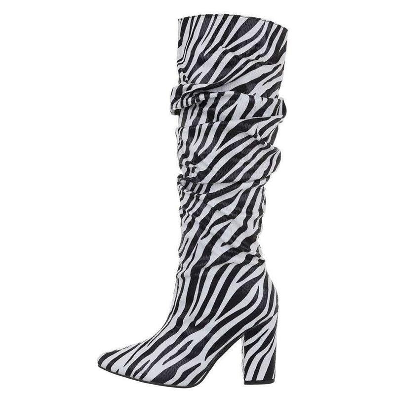 Botte chaussette noire et blanche - Pointure : 40
