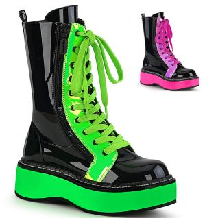 Bottines fluo verte ou rose