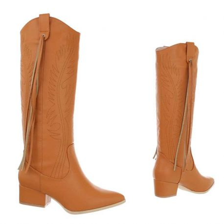VENTE FLASH SUR Botte caramel cowgirl