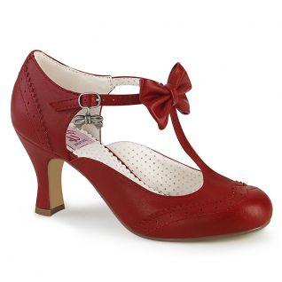 Escarpins d'Orsay rouge