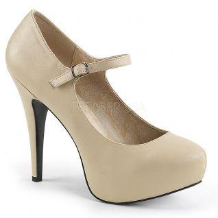 Chaussures à plateforme caramel haut talon