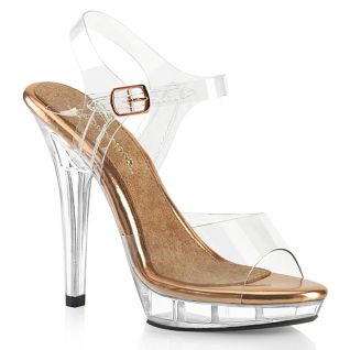 Sandales transparente rose chromée