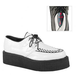 Creepers homme coloris blanc et semelle noire