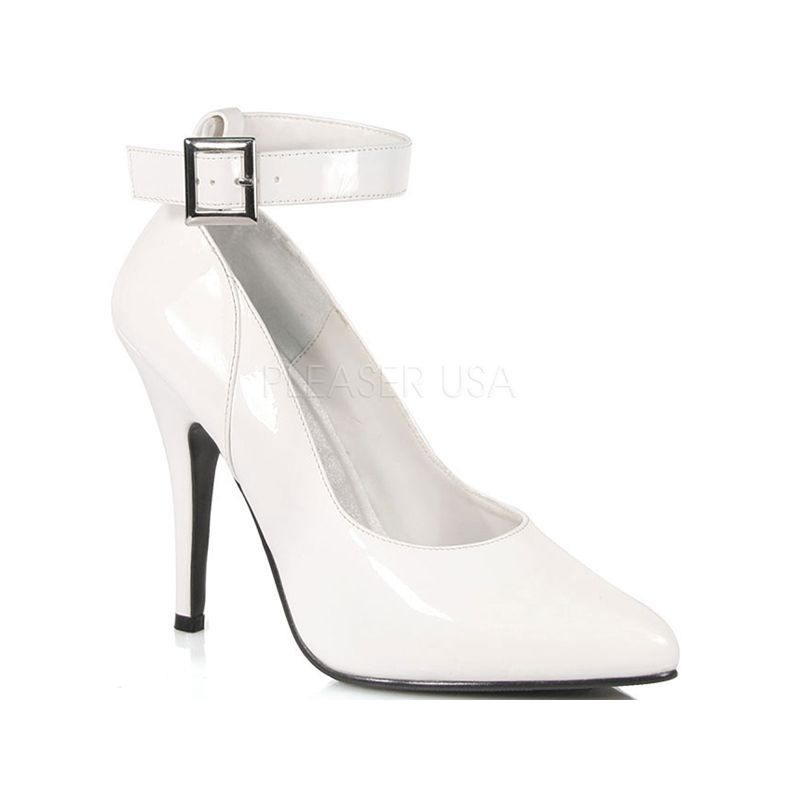 Escarpin sexy coloris blanc vernis talon haut - Pointure : 36 - Pleaser - Modalova