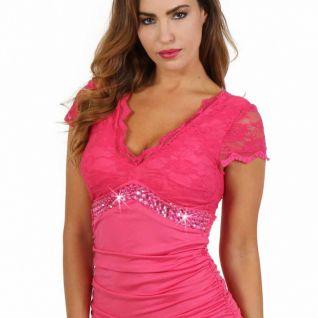 Robe moulante rose