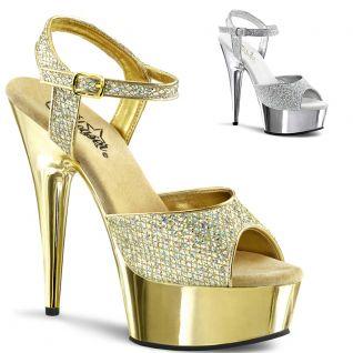 Nu-pieds paillettes argentées ou dorées