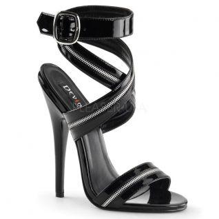 Sandale sexy coloris noir talon extrême
