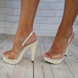Sandale habillée transparente