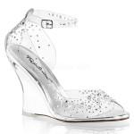 Sandale compensée mariage